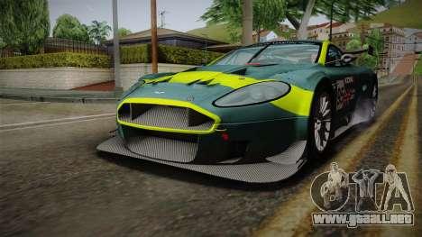 Aston Martin Racing DBRS9 GT3 2006 v1.0.6 Dirt para las ruedas de GTA San Andreas