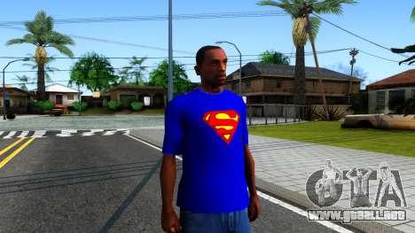 T-Shirt SuperMan para GTA San Andreas segunda pantalla