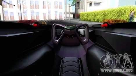 McLaren MP4 X 2016 para GTA San Andreas vista hacia atrás