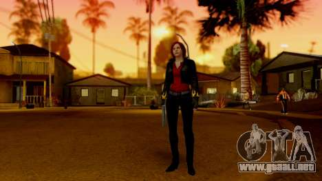 Resident Evil Revelations 2 - Claire Biker para GTA San Andreas tercera pantalla