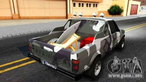 Volkswagen Caddy para GTA San Andreas vista posterior izquierda