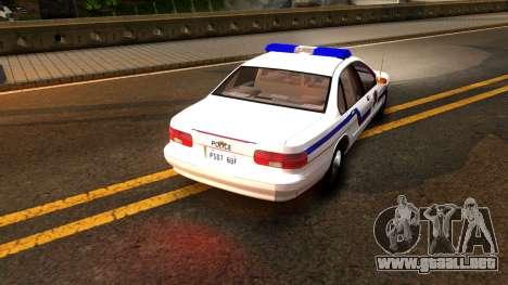 Chevy Caprice Hometown Police 1996 para la visión correcta GTA San Andreas