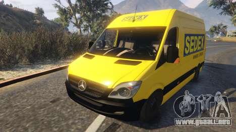 GTA 5 CORREIOS Sedex Mercedes Sprinter vista trasera