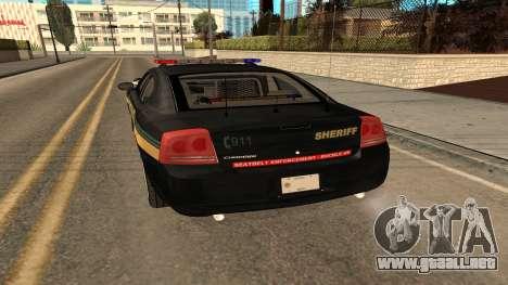 Dodge Charger County Sheriff para la visión correcta GTA San Andreas