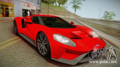 Ford GT 2017 No Stripe para GTA San Andreas