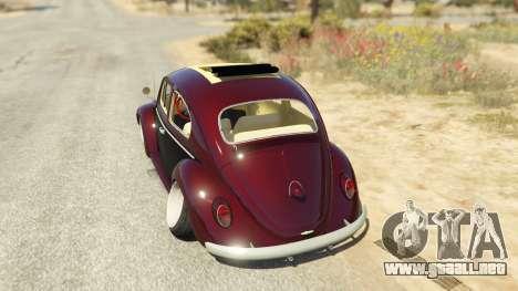 GTA 5 Volkswagen Beetle vista lateral izquierda trasera