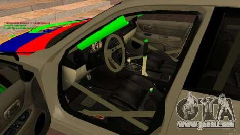 Toyota Altezza Armenian para la visión correcta GTA San Andreas