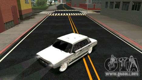 2107 Clásico de la 2 edición de Invierno para la vista superior GTA San Andreas