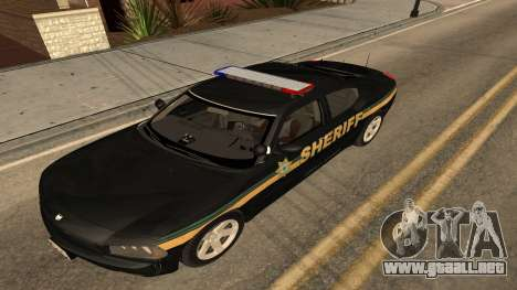 Dodge Charger County Sheriff para GTA San Andreas vista posterior izquierda