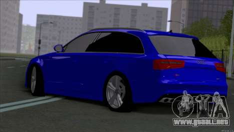 AUDI RS6 2014 para GTA San Andreas vista posterior izquierda
