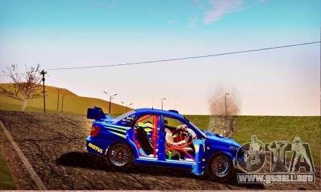 Subaru Impreza WRX STI WRC Rally 2005 para vista inferior GTA San Andreas
