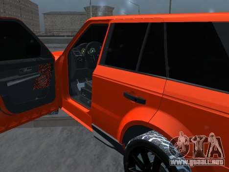 Range Rover Sport para GTA San Andreas vista hacia atrás
