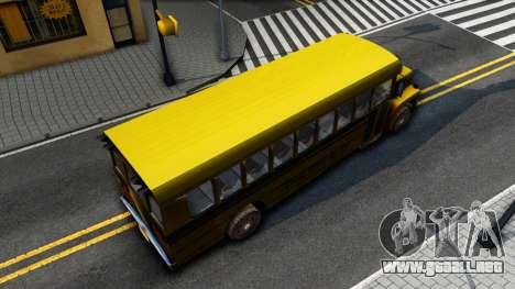 School Bus Driver Parallel Lines para GTA San Andreas vista hacia atrás