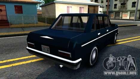 Perennial Sedan para la visión correcta GTA San Andreas
