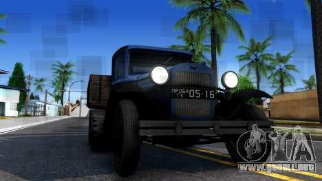 1940 GAZ-65 para visión interna GTA San Andreas