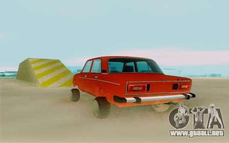 Phoenix ВАЗ 2106 para GTA San Andreas vista posterior izquierda