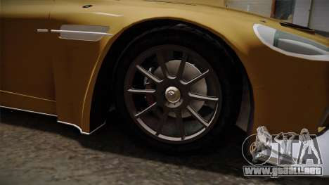 Aston Martin Racing DBRS9 GT3 2006 v1.0.6 YCH para GTA San Andreas vista hacia atrás