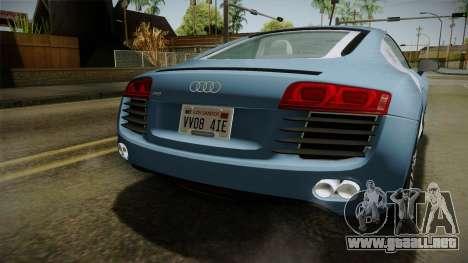Audi R8 Coupe 4.2 FSI quattro EU-Spec 2008 YCH para la vista superior GTA San Andreas