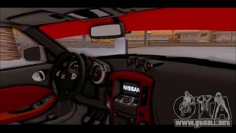 Nissan 370z Drift Edition para la visión correcta GTA San Andreas