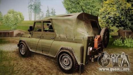 УАЗ-3151 CoD4 MW Remastered FIV para GTA San Andreas left