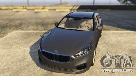 GTA 5 Kia Cadenza 2017 vista trasera