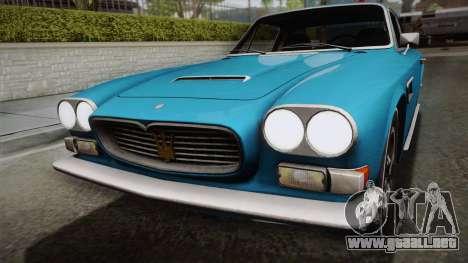 Maserati Serbin 4000 v0.1 (Beta) para la visión correcta GTA San Andreas