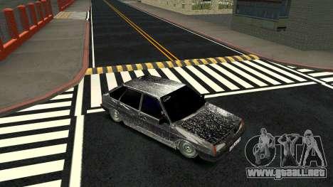 2109 versión de Invierno para GTA San Andreas vista hacia atrás