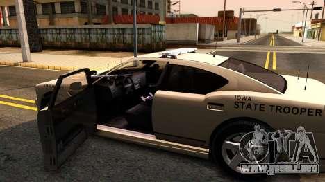Bravado Buffalo 2012 Iowa State Patrol para visión interna GTA San Andreas