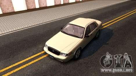Ford Crown Victoria Unmarked 2009 para GTA San Andreas vista hacia atrás