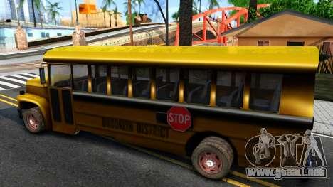 School Bus Driver Parallel Lines para GTA San Andreas left