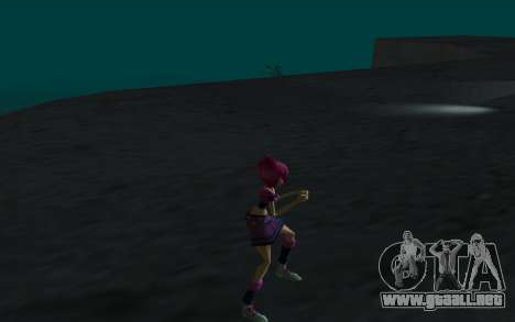 Tecna Rock Outfit from Winx Club Rockstars para GTA San Andreas sucesivamente de pantalla
