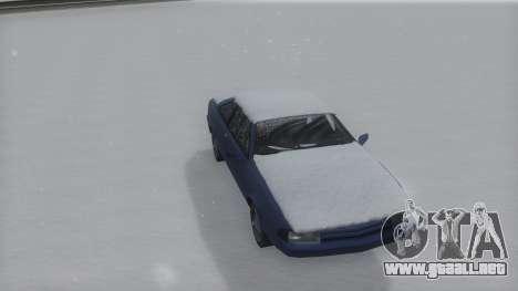 Cadrona Winter IVF para GTA San Andreas vista posterior izquierda