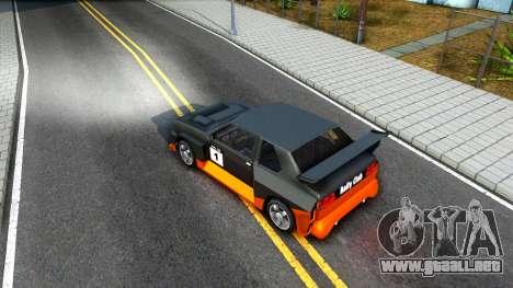 Rally Club para visión interna GTA San Andreas