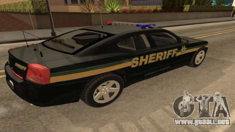 Dodge Charger County Sheriff para GTA San Andreas left