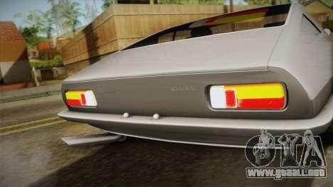 Maserati Ghibli v0.1 (Beta) para GTA San Andreas vista posterior izquierda