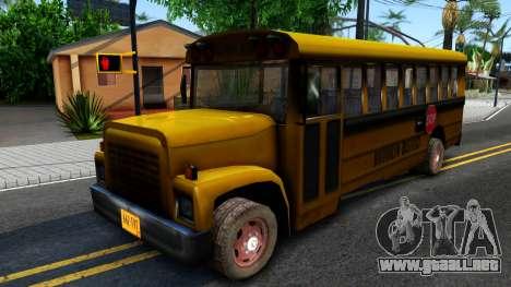School Bus Driver Parallel Lines para GTA San Andreas