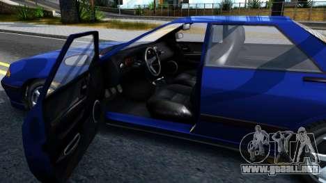 GTA V Zirconium Stratum Sedan para visión interna GTA San Andreas