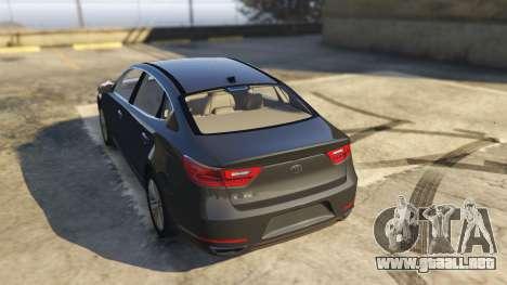 GTA 5 Kia Cadenza 2017 vista lateral izquierda trasera