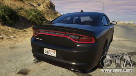 GTA 5 Dodge Charger 2016 vista lateral izquierda trasera
