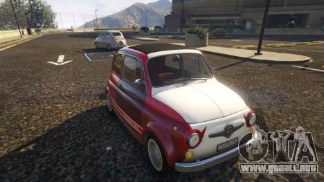 GTA 5 Fiat Abarth 595ss Racing ver vista trasera