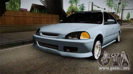 Honda Civic Turbo para la visión correcta GTA San Andreas