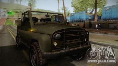 УАЗ-3151 CoD4 MW Remastered FIV para vista lateral GTA San Andreas