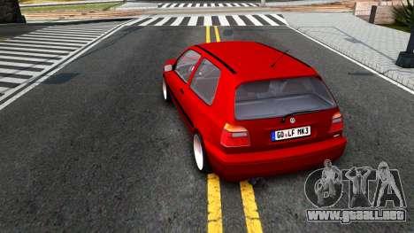 Volkswagen Golf Mk3 1997 para la visión correcta GTA San Andreas