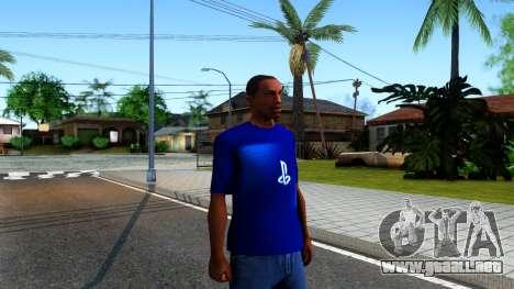 T-Shirt PS4 para GTA San Andreas segunda pantalla
