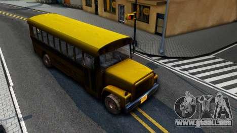 School Bus Driver Parallel Lines para la visión correcta GTA San Andreas