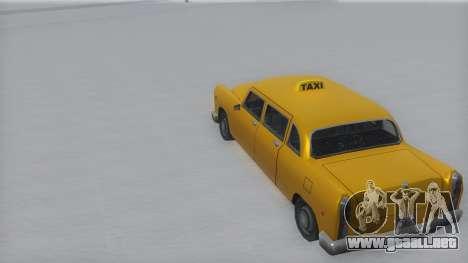 Cabbie Winter IVF para GTA San Andreas vista posterior izquierda