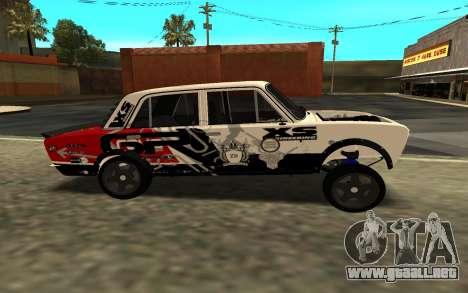 VAZ 2106 A LA DERIVA para GTA San Andreas vista posterior izquierda