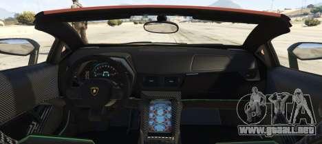 GTA 5 Lamborghini Centenario LP 770-4 Roadster vista lateral izquierda trasera