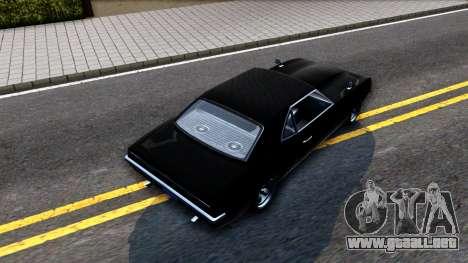 GTA V Declasse Vigero para GTA San Andreas vista hacia atrás