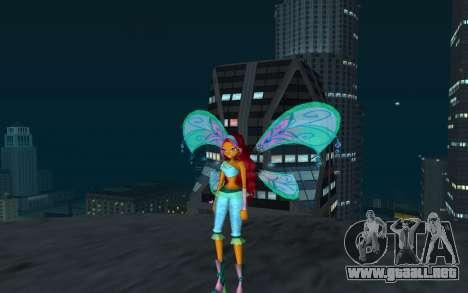 Aisha Believix from Winx Club Rockstars para GTA San Andreas segunda pantalla